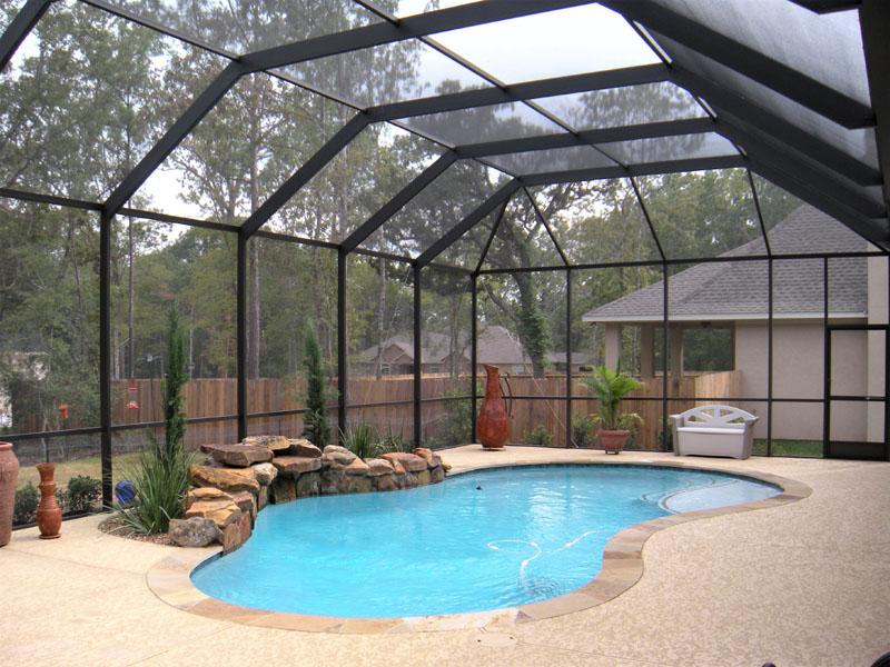 Pool Screen Enclosures The Woodlands Pool Enclosures